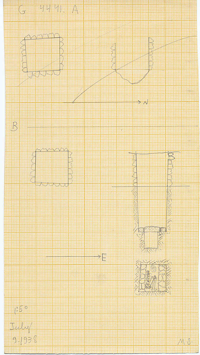 Maps and plans: G 4441, Shaft A and B