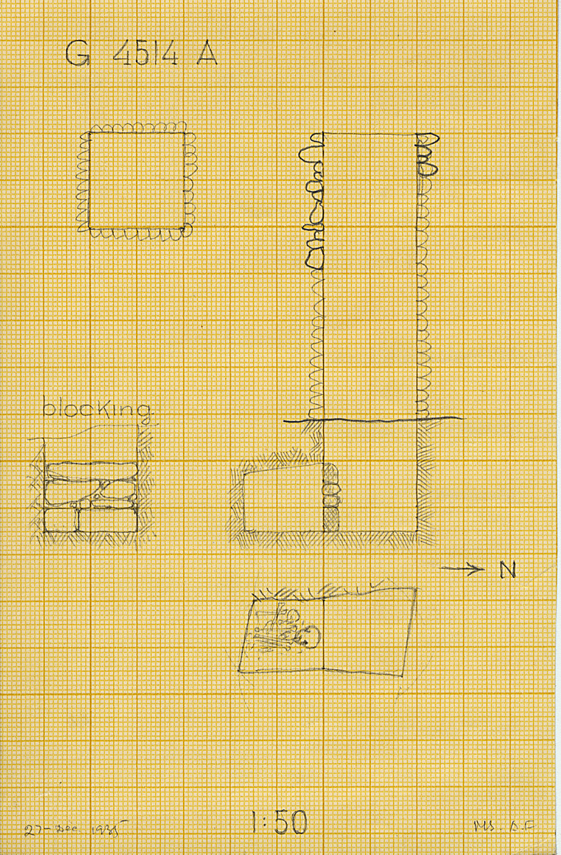 Maps and plans: G 4514, Shaft A