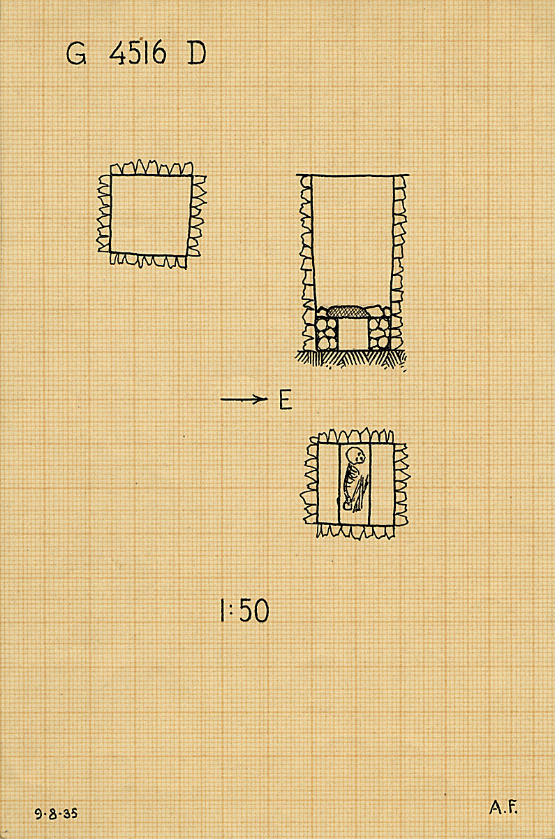 Maps and plans: G 4516, Shaft D