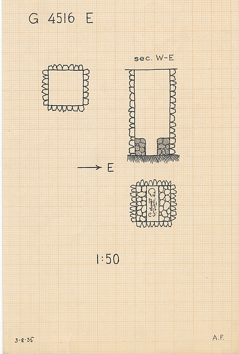 Maps and plans: G 4516, Shaft E