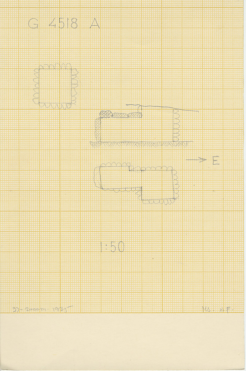 Maps and plans: G 4518, Shaft A
