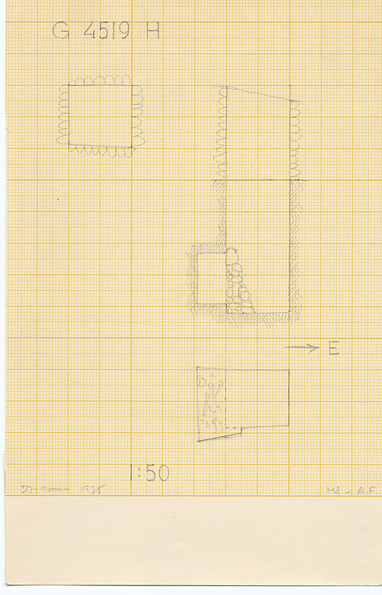 Maps and plans: G 4519, Shaft H