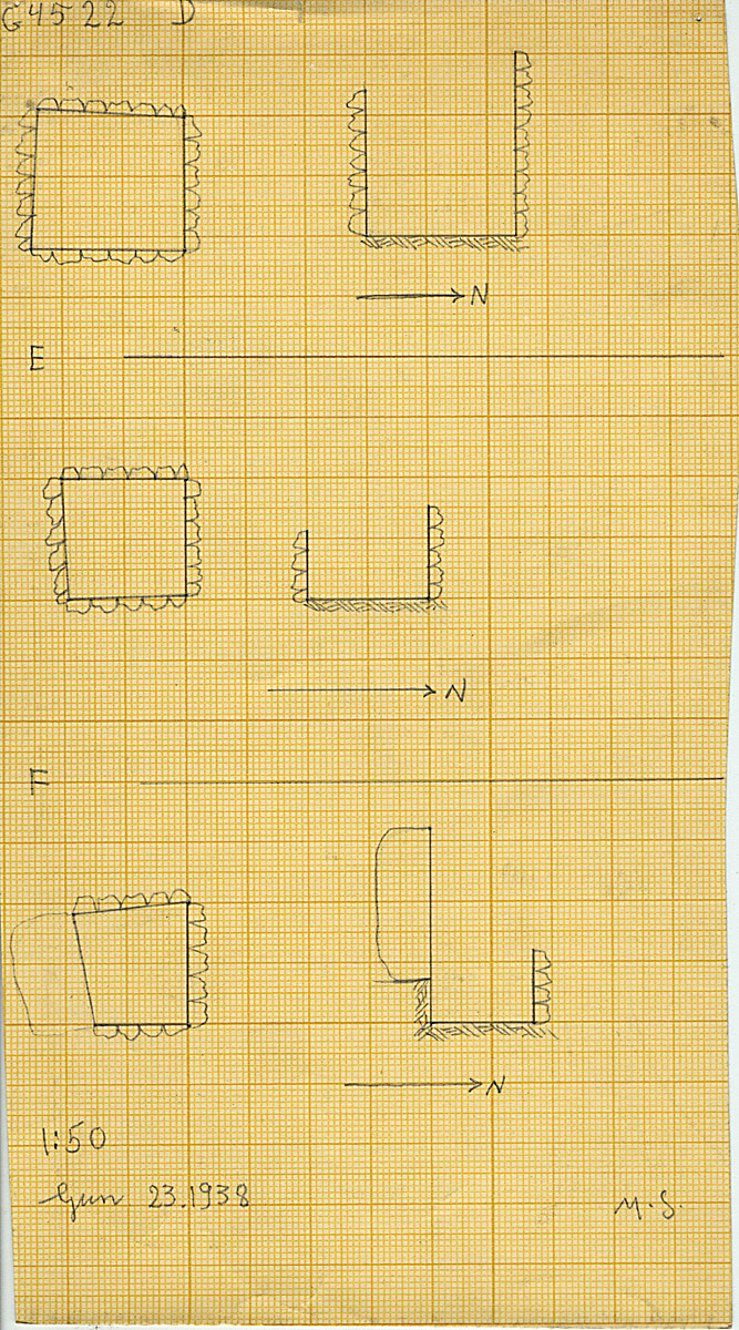 Maps and plans: G 4522, Shaft D, E, F (E and F = G 4521)