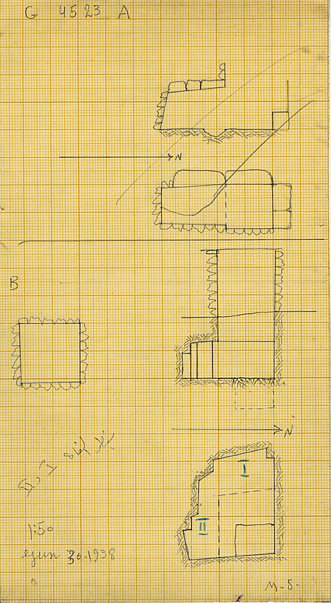 Maps and plans: G 4523, Shaft A and B