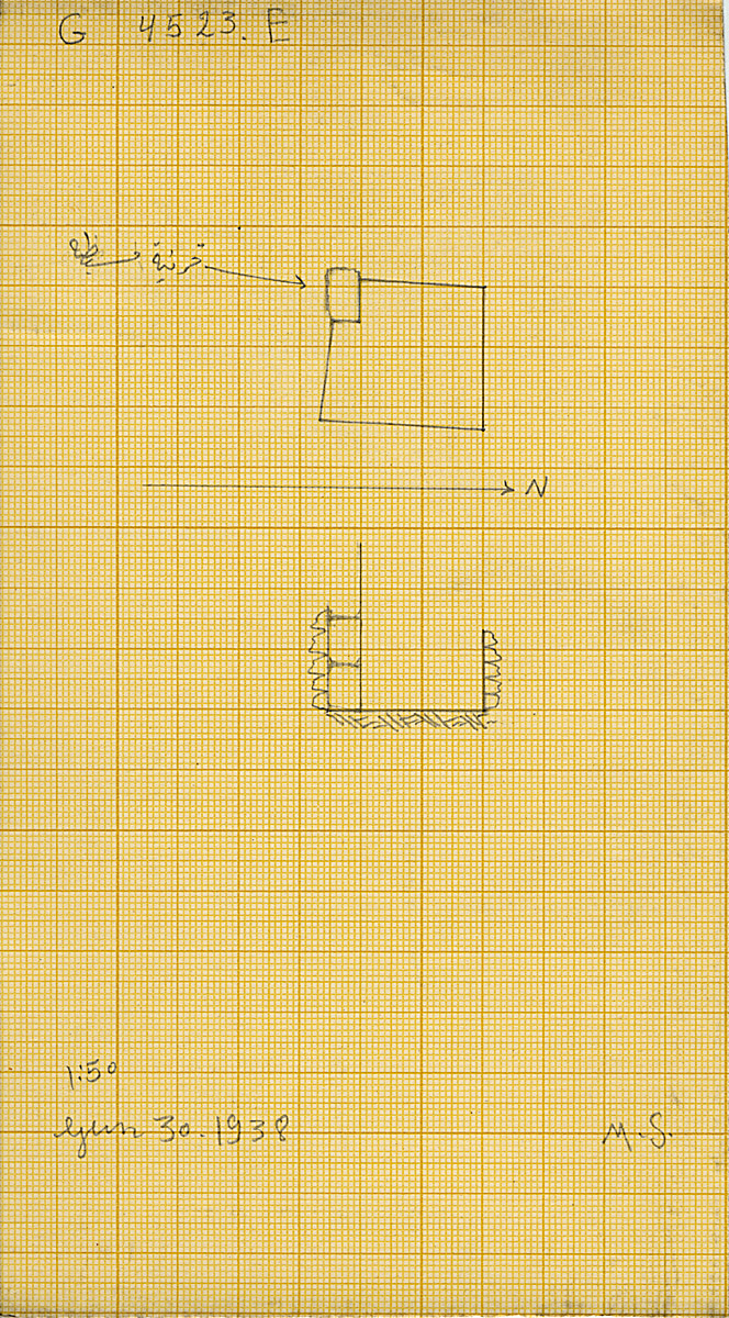 Maps and plans: G 4523, Shaft E
