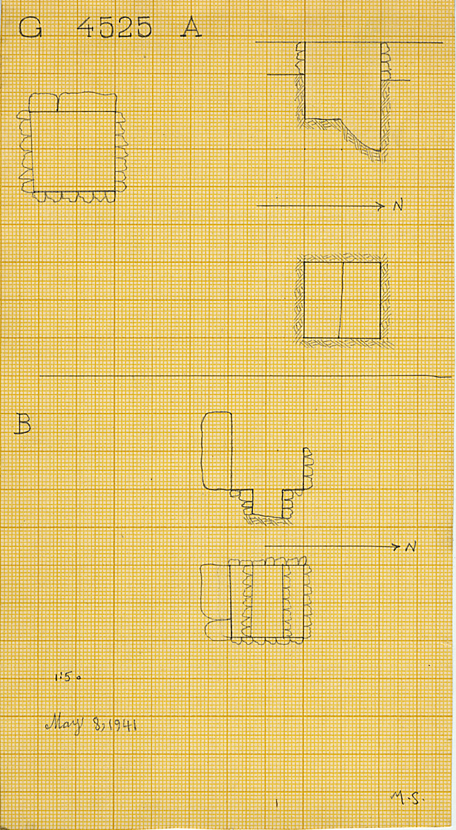 Maps and plans: G 4525, Shaft A and B