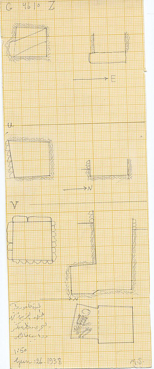 Maps and plans: G 4610, Shaft U, V, Z