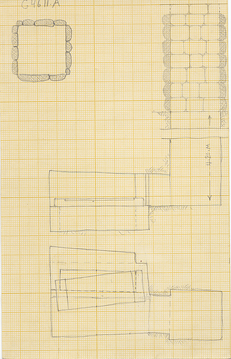 Maps and plans: G 4611, Shaft A