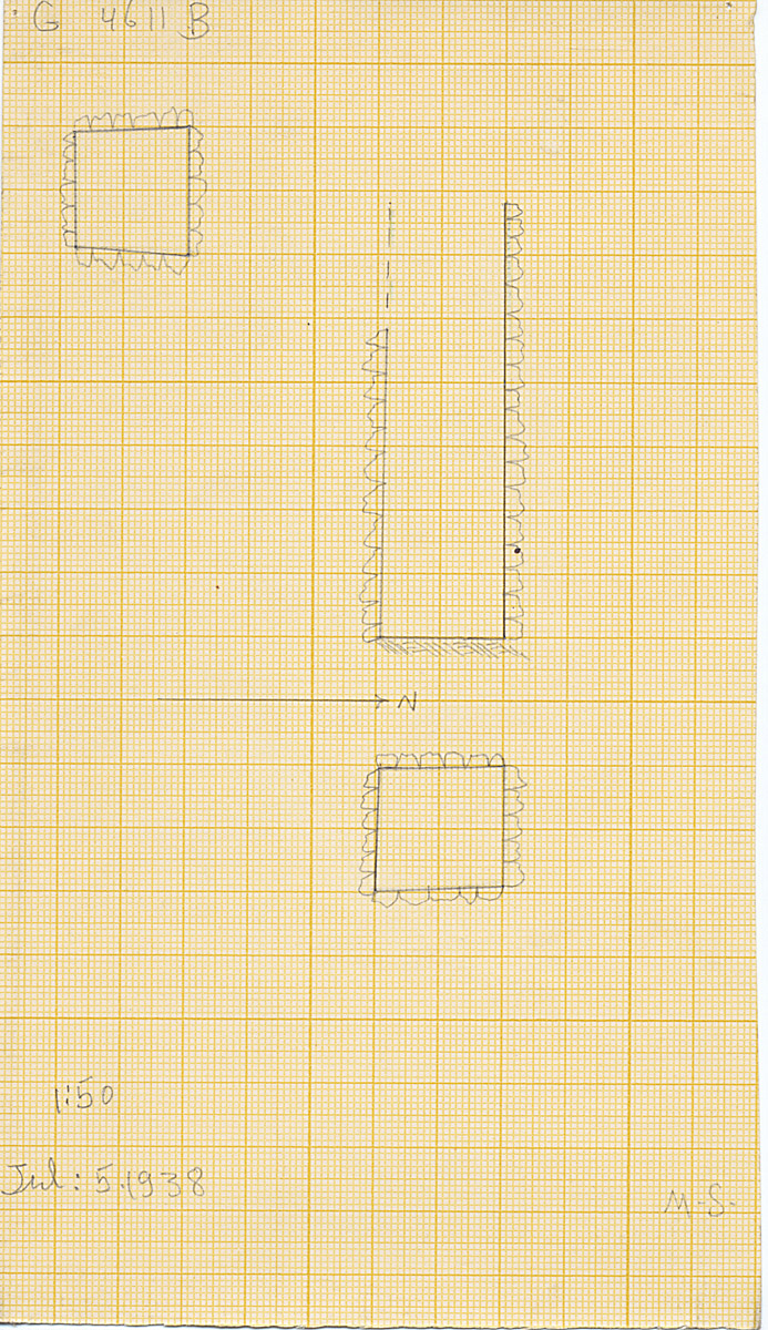 Maps and plans: G 4611, Shaft B