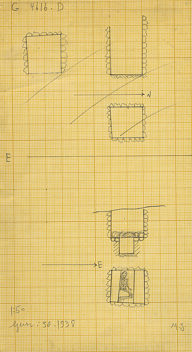 Maps and plans: G 4616, Shaft D and E
