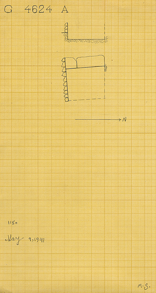 Maps and plans: G 4624, Shaft A