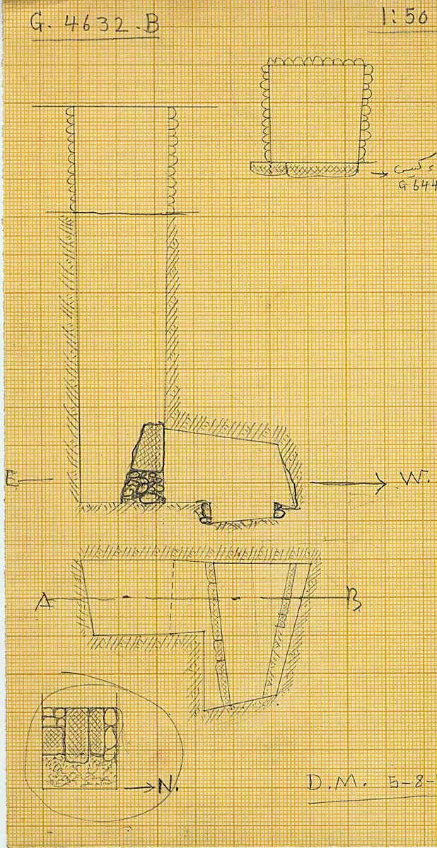 Maps and plans: G 4632, Shaft B