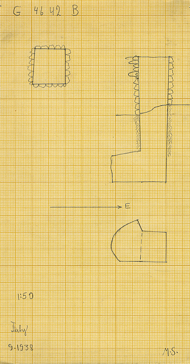 Maps and plans: G 4642, Shaft B