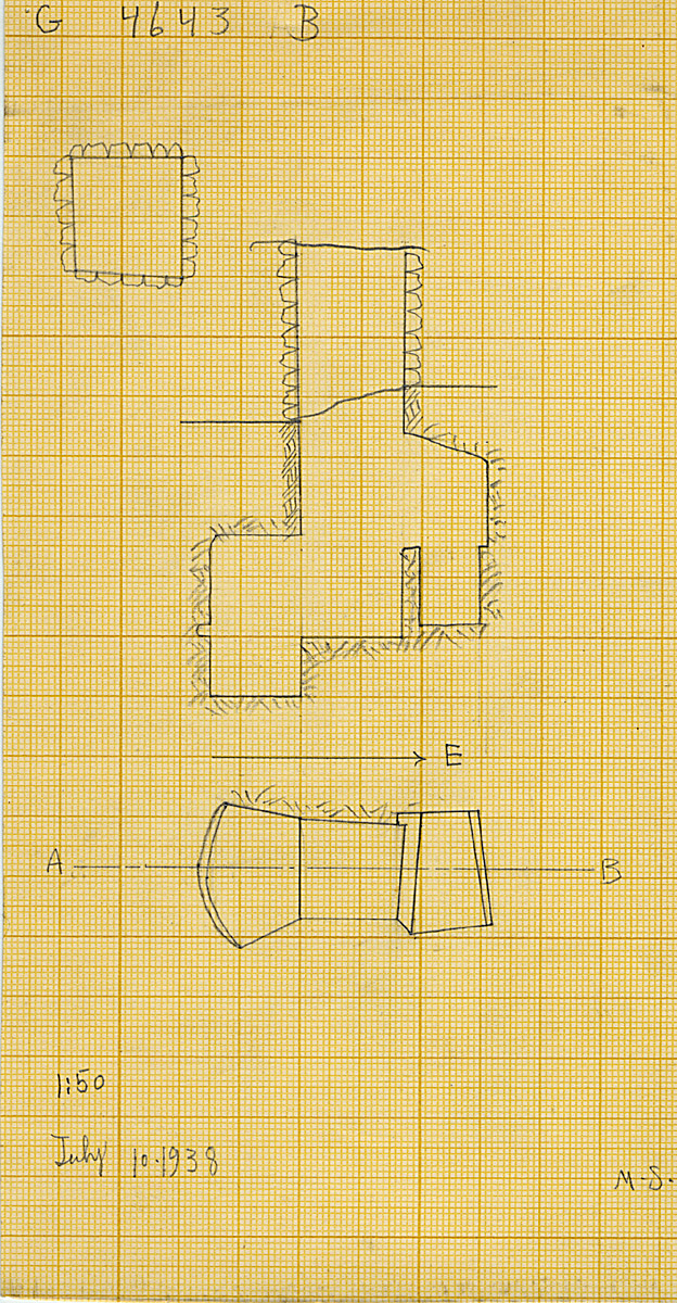 Maps and plans: G 4643, Shaft B