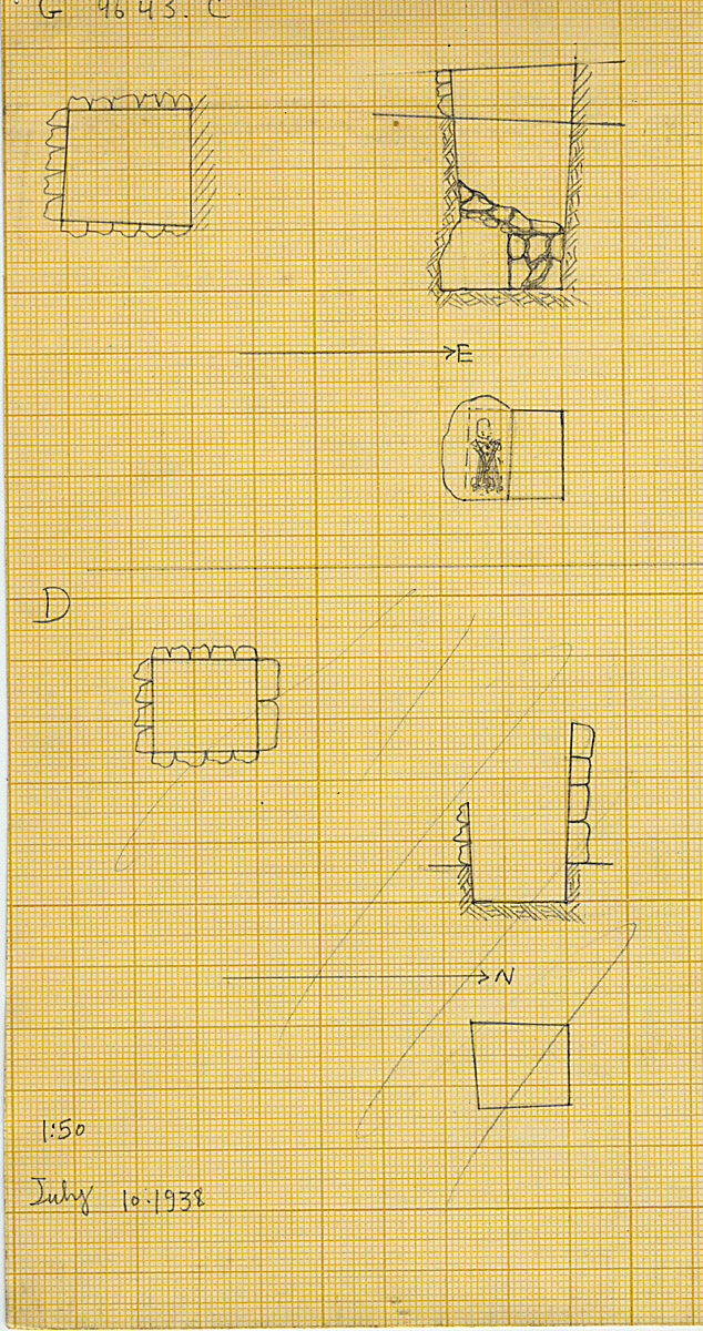 Maps and plans: G 4643, Shaft C and D
