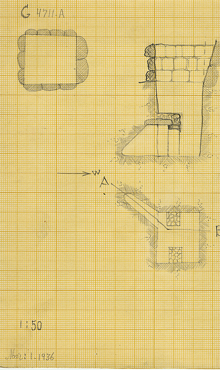 Maps and plans: G 4711, Shaft A