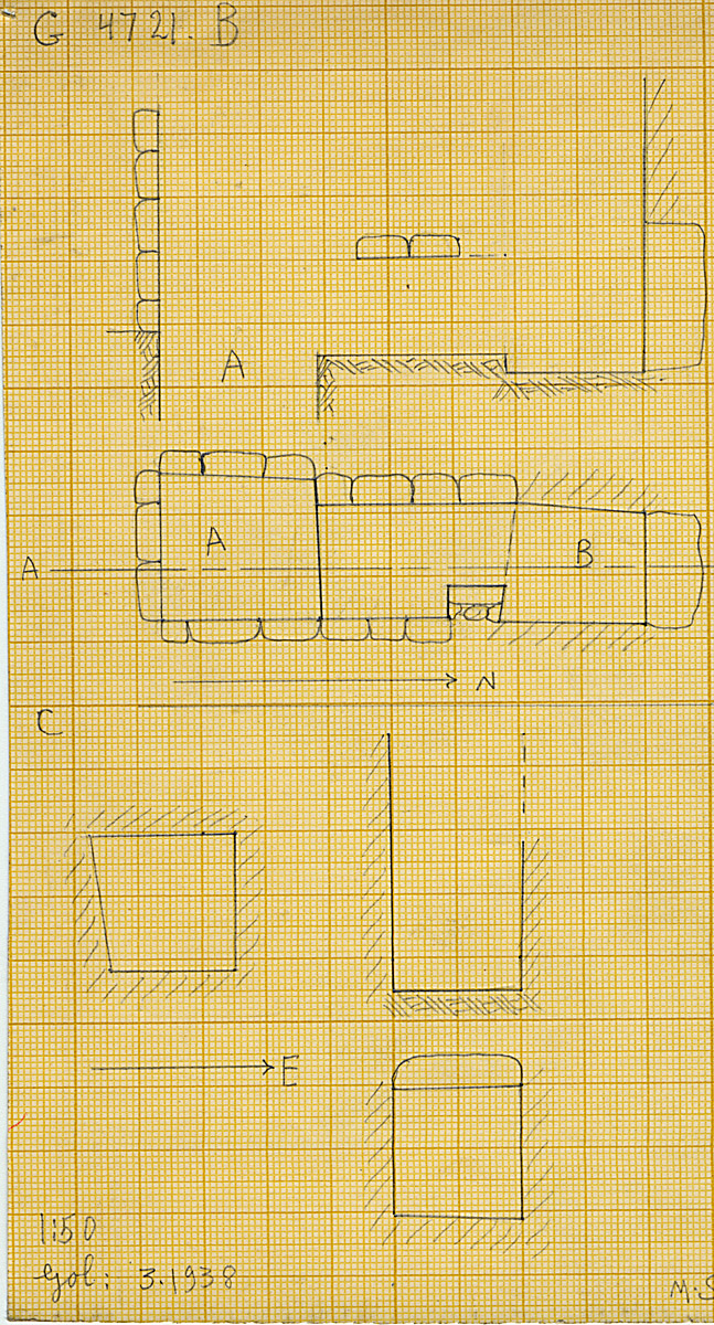 Maps and plans: G 4721, Shaft B and C