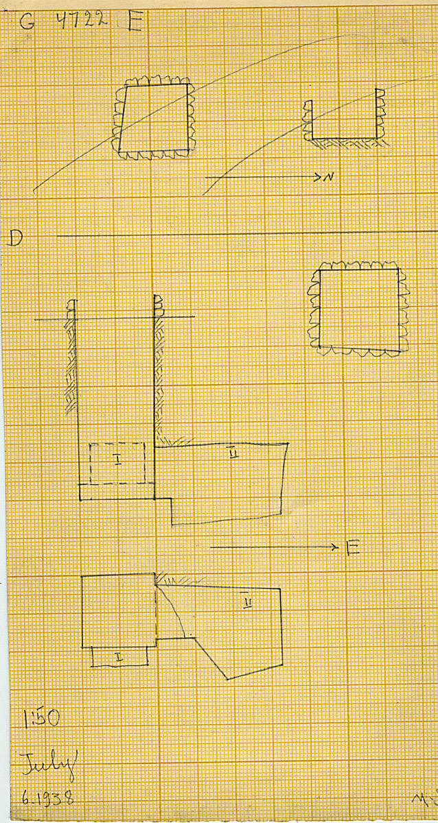 Maps and plans: G 4722, Shaft D and E