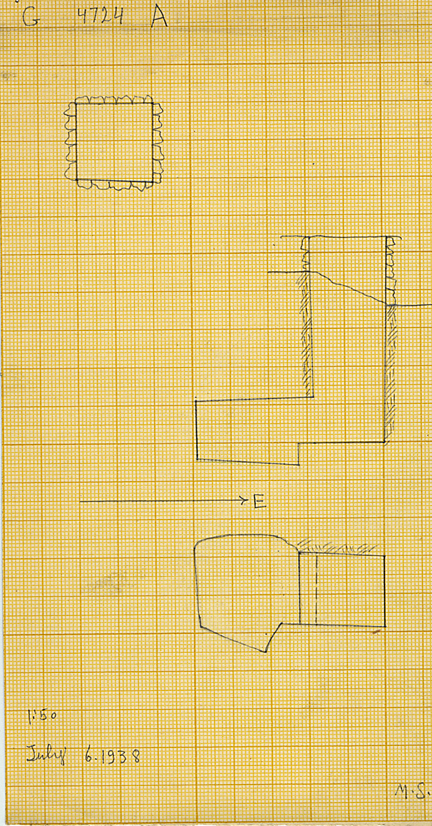 Maps and plans: G 4724, Shaft A