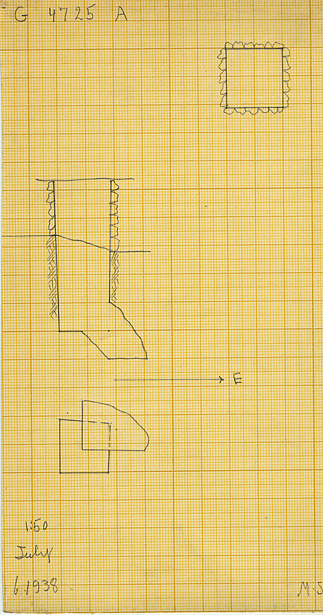 Maps and plans: G 4725, Shaft A