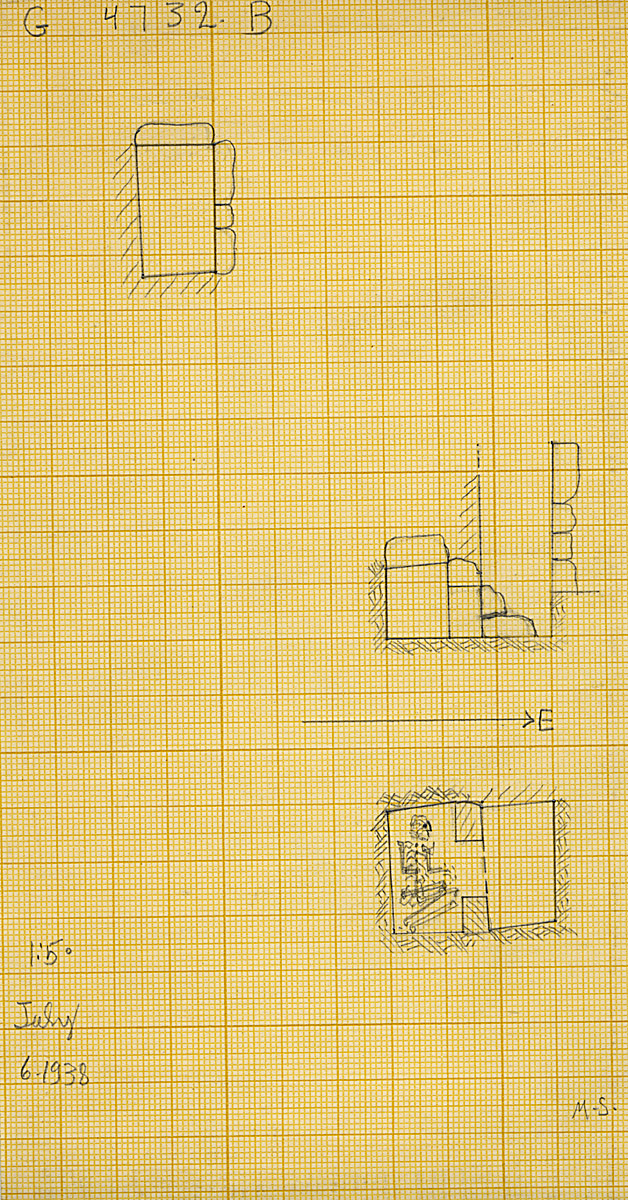 Maps and plans: G 4732, Shaft B