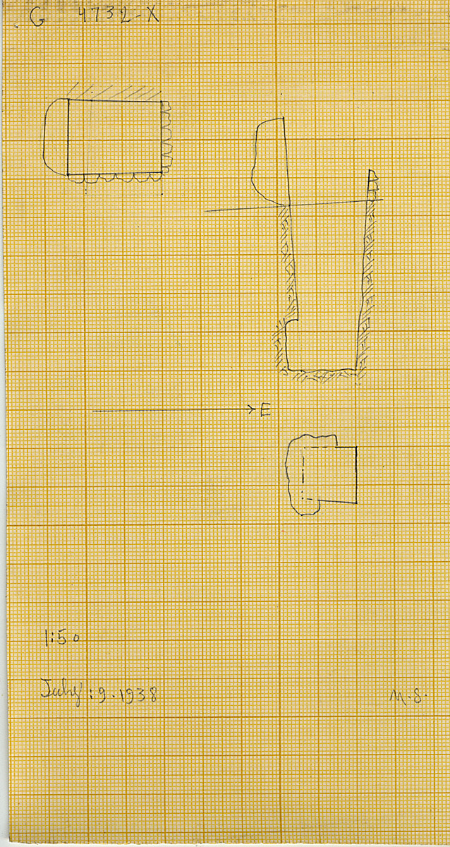 Maps and plans: G 4732, Shaft X