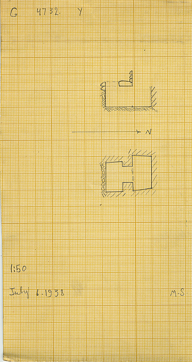 Maps and plans: G 4732, Shaft Y