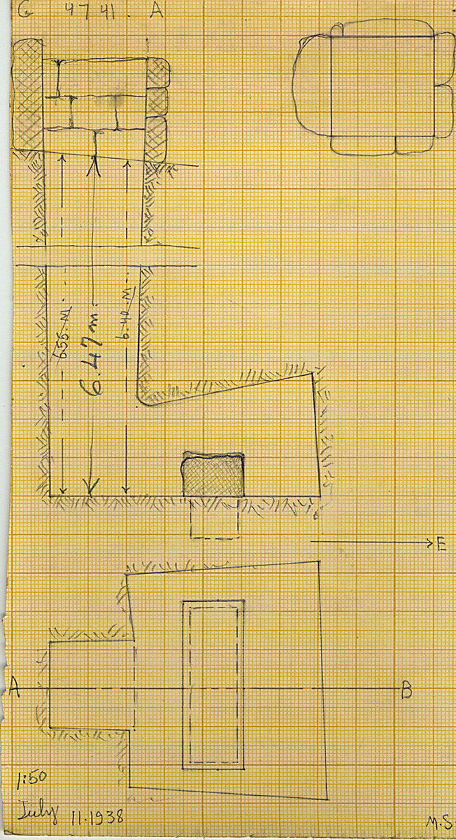 Maps and plans: G 4741, Shaft A