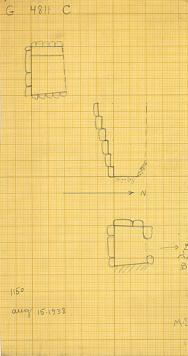 Maps and plans: G 4811+4812: G 4811, Shaft C