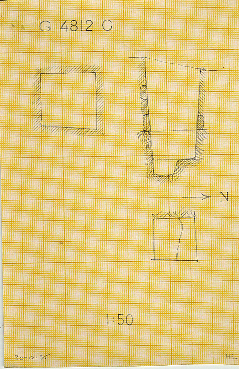 Maps and plans: G 4811+4812: G 4812, Shaft C