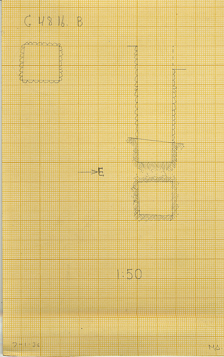 Maps and plans: G 4816, Shaft B
