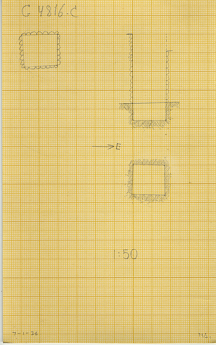 Maps and plans: G 4816, Shaft C