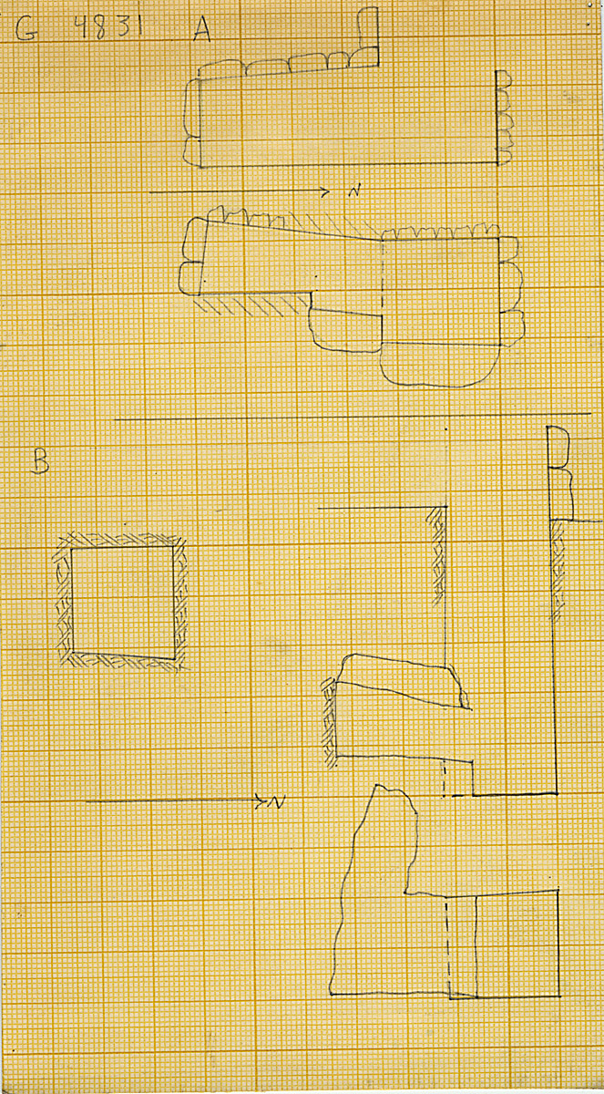 Maps and plans: G 4831, Shaft A and B