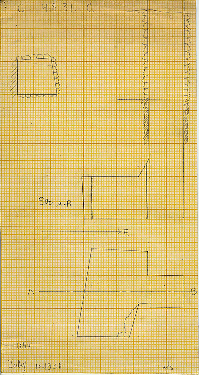 Maps and plans: G 4831, Shaft C
