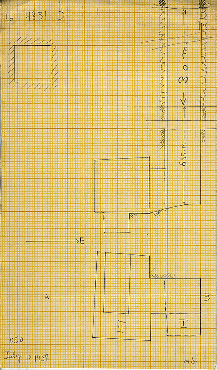 Maps and plans: G 4831, Shaft D