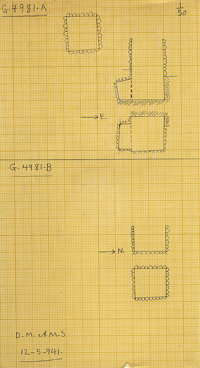 Maps and plans: G 4981, Shaft A and B