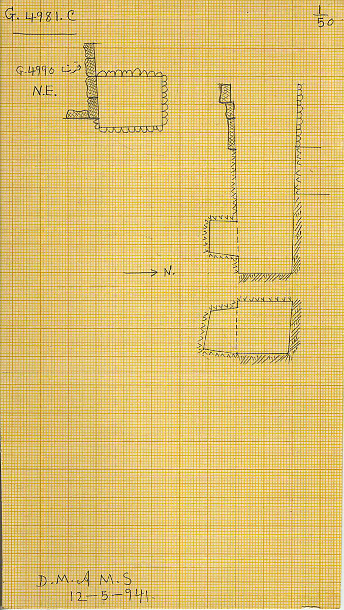 Maps and plans: G 4981, Shaft C