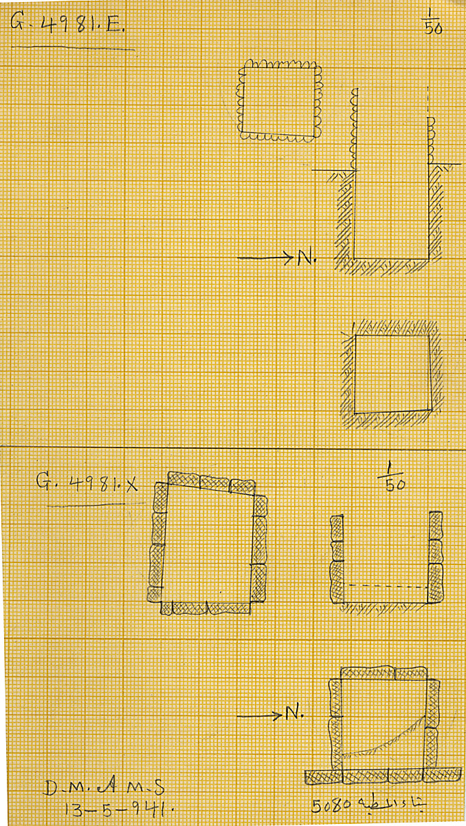 Maps and plans: G 4981, Shaft E and X