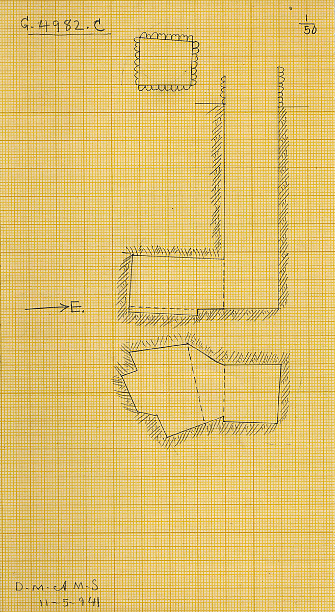 Maps and plans: G 4982, Shaft C