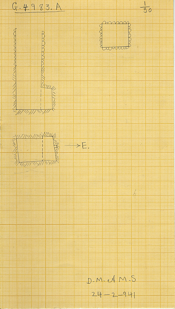 Maps and plans: G 4983, Shaft A
