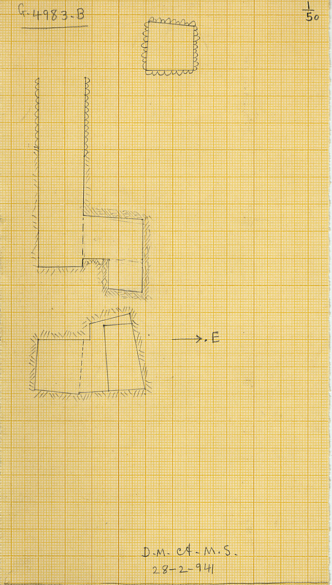Maps and plans: G 4983, Shaft B