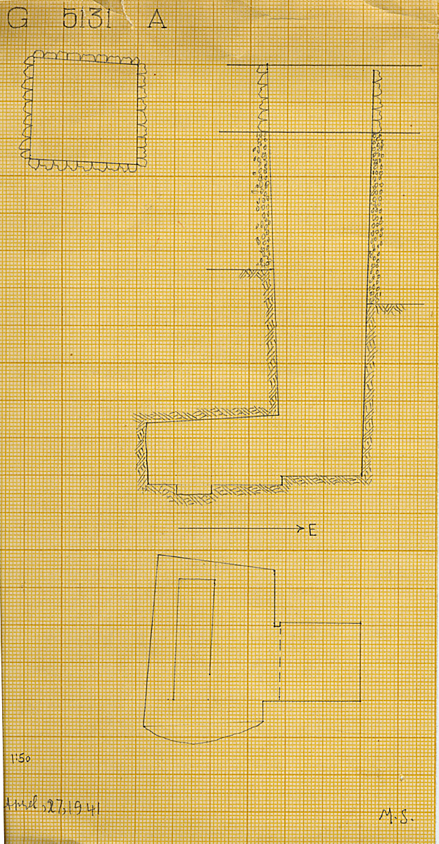 Maps and plans: G 5131, Shaft A