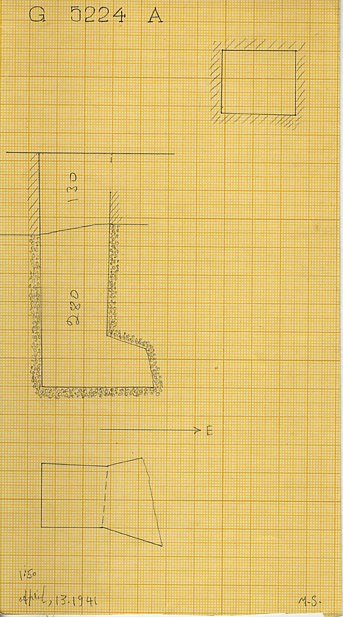 Maps and plans: G 5224, Shaft A