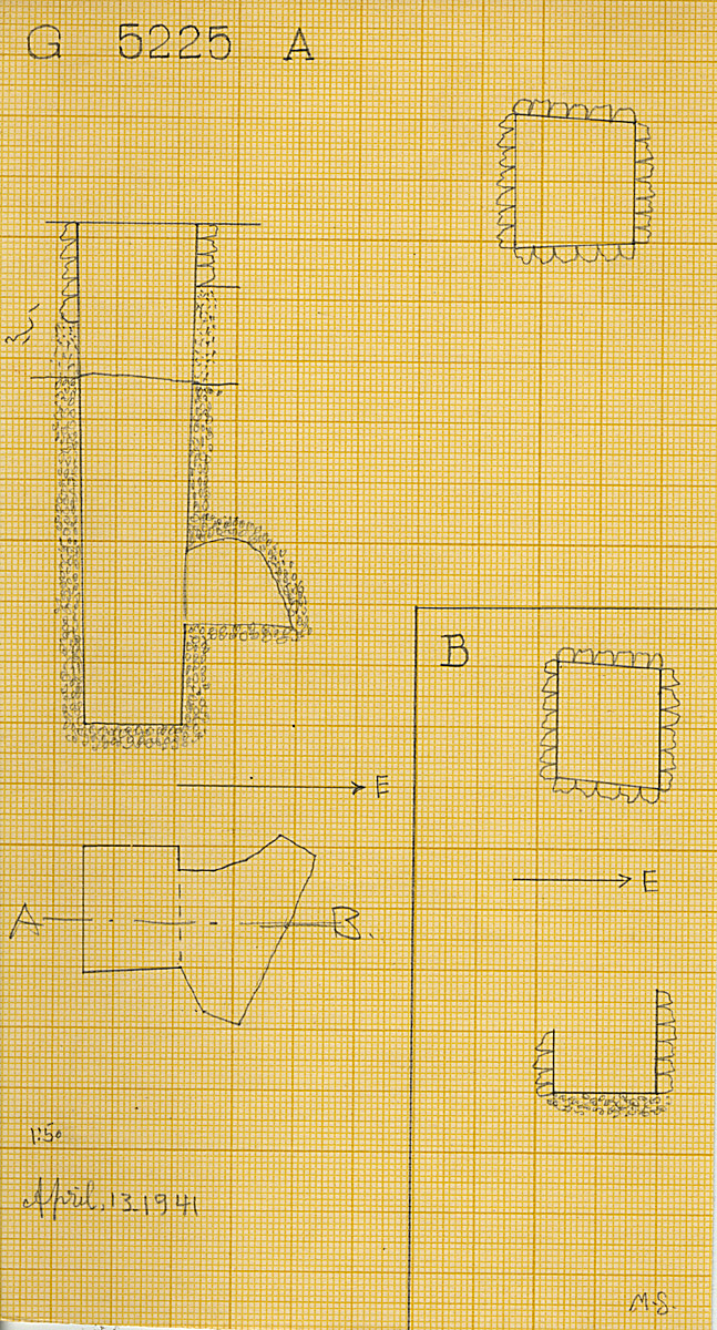 Maps and plans: G 5225, Shaft A and B