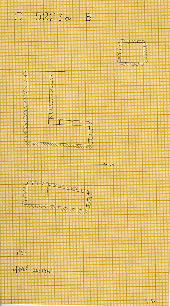 Maps and plans: G 5227a, Shaft B