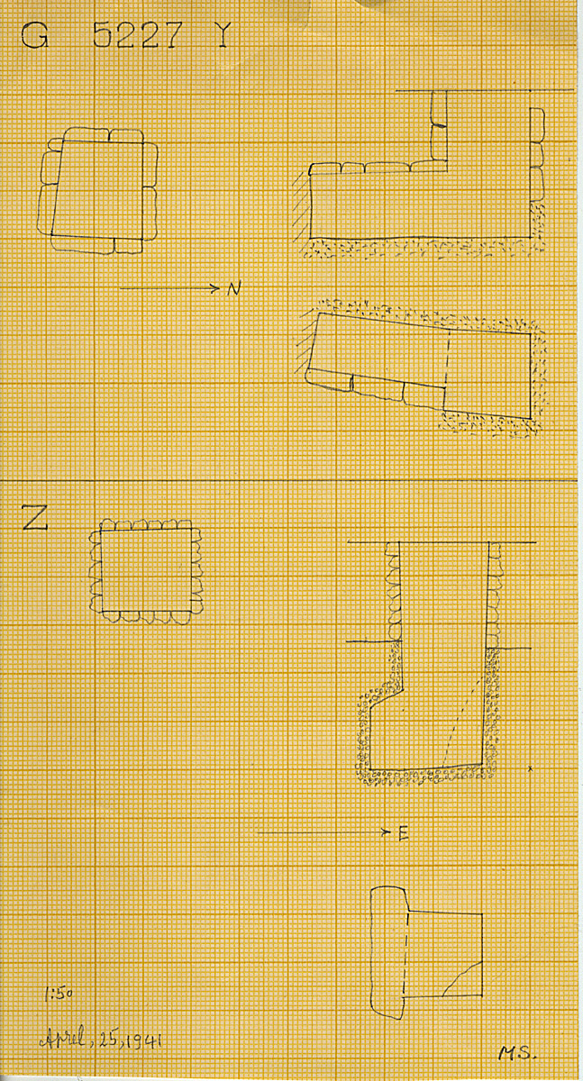Maps and plans: G 5227, Shaft Y and Z