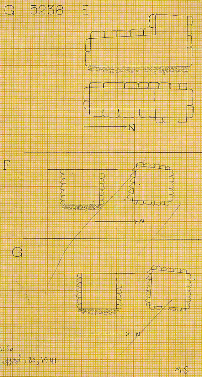 Maps and plans: G 5236, Shaft E, F, G
