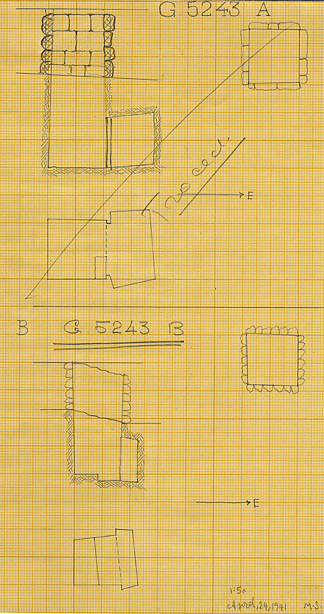Maps and plans: G 5243, Shaft A and B
