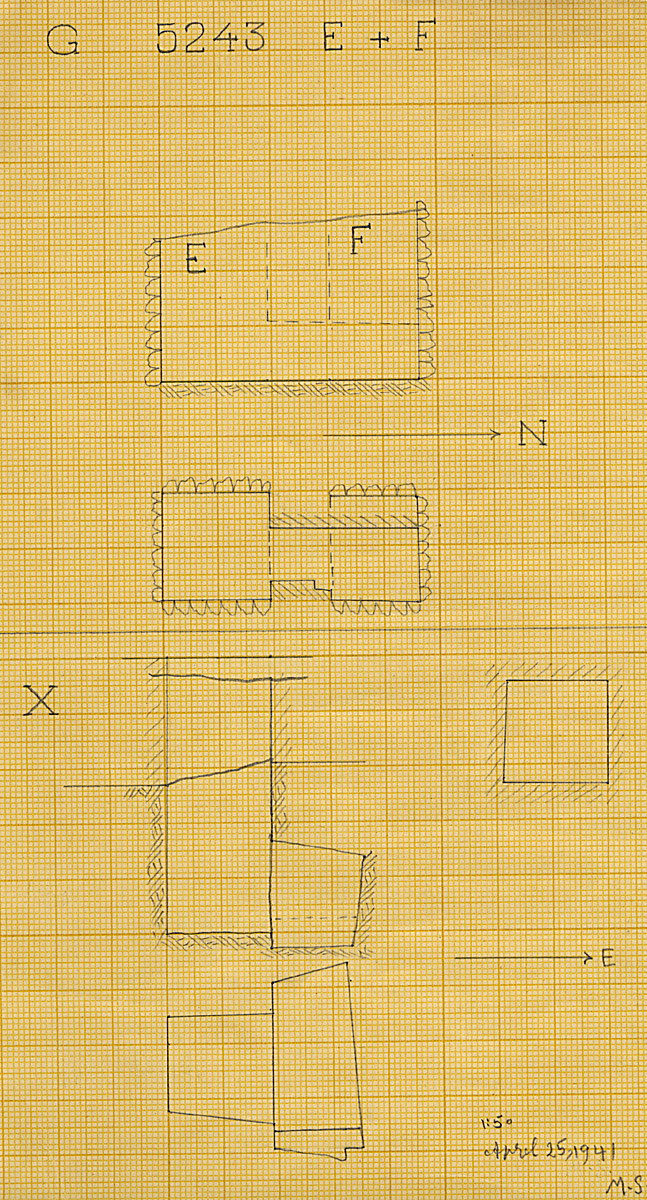 Maps and plans: G 5243, Shaft E, F, X