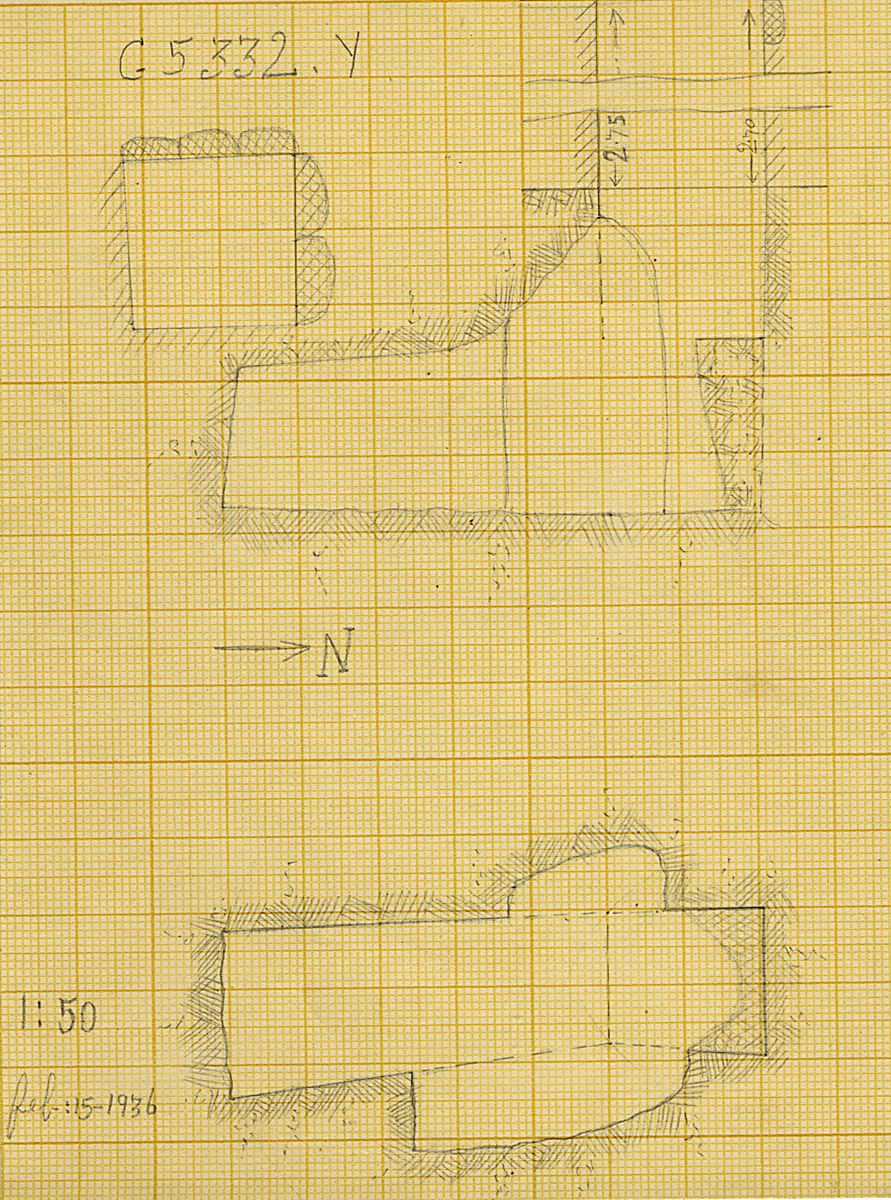 Maps and plans: G 5332, Shaft Y (S 814)